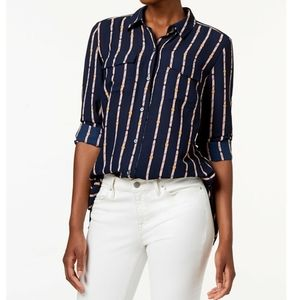 CHARTER CLUB Long-Sleeve Button-Down Blouse